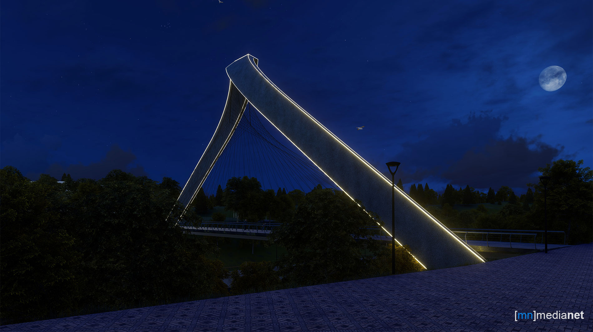 bridge lighting design side view