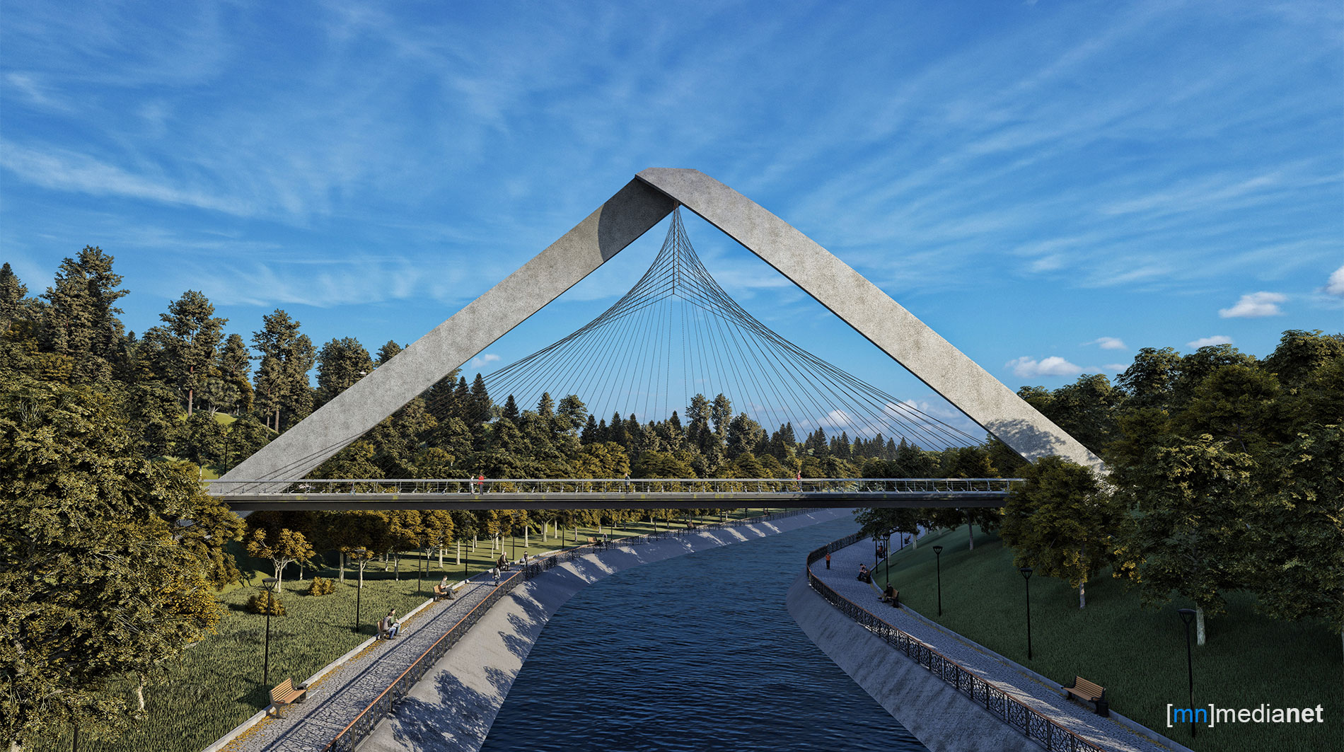 canal crossing bridge design